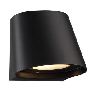 Mod Black Four-Inch LED Outdoor Wall Sconce