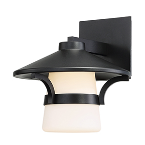 Abode Black 9-Inch LED Outdoor Wall Light