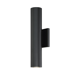 Caliber Black 5-Inch Two-Light LED Outdoor Wall Light