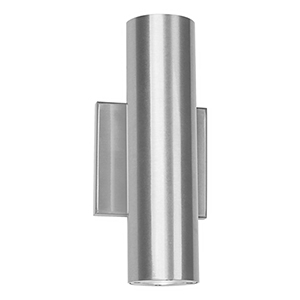Caliber Brushed Aluminum 5-Inch LED Outdoor Wall Light