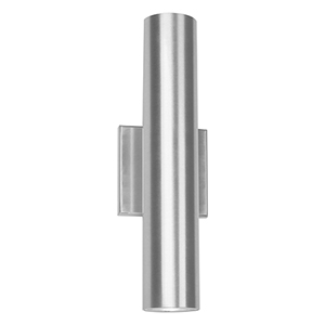 Caliber Brushed Aluminum 5-Inch Two-Light LED Outdoor Wall Light
