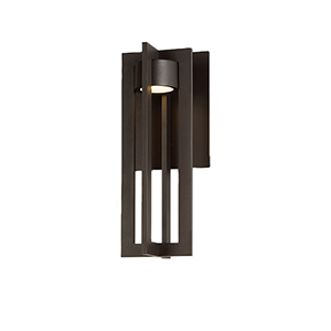Chamber Bronze 16-Inch LED Outdoor Wall Light
