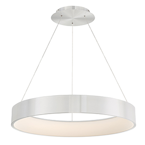Corso Brushed Aluminum 32-Inch LED Pendant