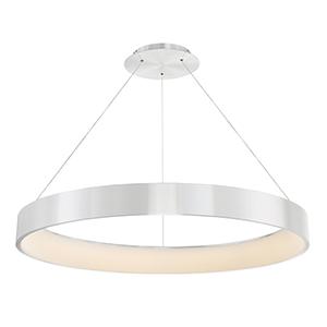 Corso Brushed Aluminum 43-Inch LED Pendant