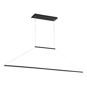 E=MC2 Black 47-Inch LED Pendant
