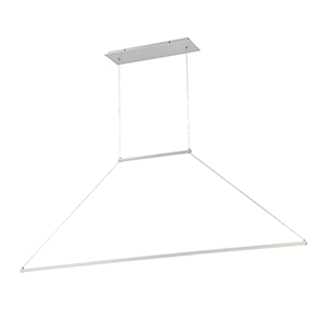 E=MC2 Brushed Aluminum 47-Inch LED Pendant