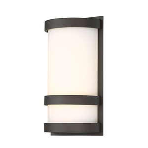 Latitude Bronze 10-Inch LED Outdoor Wall Light