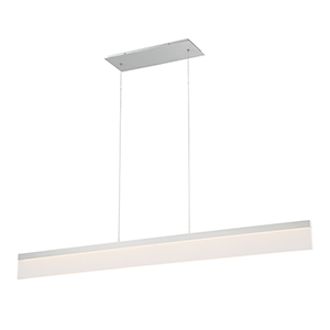 Level Brushed Aluminum 48-Inch LED Pendant