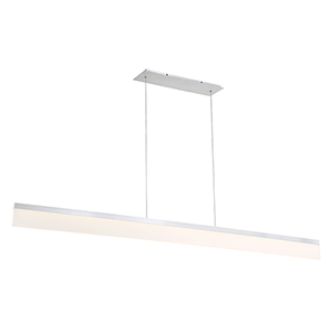 Level Brushed Aluminum 65-Inch LED Pendant