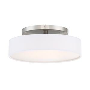 Manhattan Brushed Nickel 14-Inch LED Convertible Flush Mount