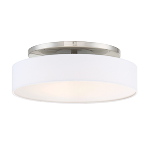 Manhattan Brushed Nickel 20-Inch LED Convertible Flush Mount