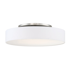 Manhattan Brushed Nickel 26-Inch LED Convertible Flush Mount