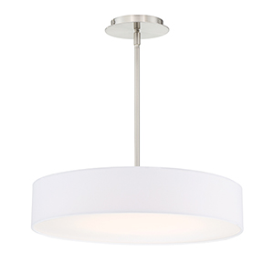 Manhattan Brushed Nickel 20-Inch LED Pendant