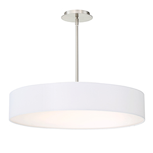 Manhattan Brushed Nickel 26-Inch LED Pendant