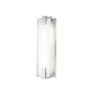 Meridien Brushed Nickel 6-Inch LED Bath and Wall Light