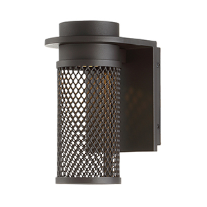 Mesh Bronze 3-Inch LED Outdoor Wall Light