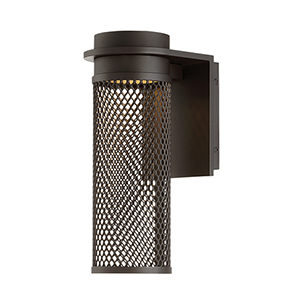 Mesh Bronze 4-Inch LED Outdoor Wall Light