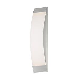 Panorama Brushed Aluminum 6-Inch LED Outdoor Wall Light