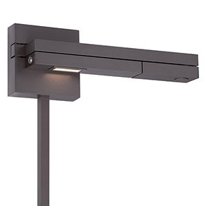 Flip Bronze LED Right Swing Arm with White Diffuser Lens