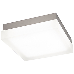 Dice Brushed Nickel 9-Inch LED Flush Mount with 2700K Warm White