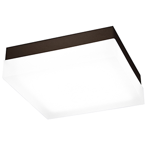 Dice Bronze 9-Inch LED Flush Mount with 3000K Soft White
