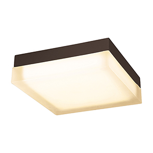 Dice Bronze 12-Inch LED Flush Mount with 2700K Warm White