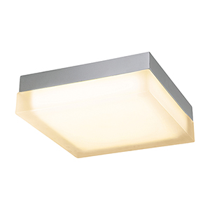 Dice Brushed Nickel 12-Inch LED Flush Mount with 3000K Soft White