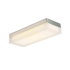 Dice Brushed Nickel One-Light LED Flush Mount