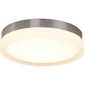 Slice Brushed Nickel 9-Inch LED Flush Mount with 2700K Warm White
