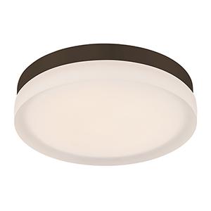 Slice Bronze 9-Inch LED Flush Mount with 2700K Warm White