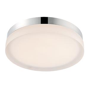 Slice Chrome 9-Inch LED Flush Mount with 2700K Warm White