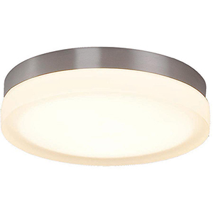 Slice Brushed Nickel 9-Inch LED Flush Mount with 3000K Soft White