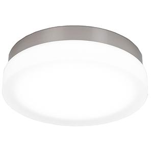 Slice Brushed Nickel 11-Inch LED Flush Mount with 2700K Warm White
