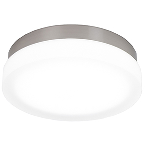 Slice Brushed Nickel 11-Inch LED Flush Mount with 3000K Soft White