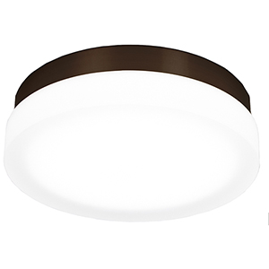Slice Bronze 11-Inch LED Flush Mount with 3000K Soft White