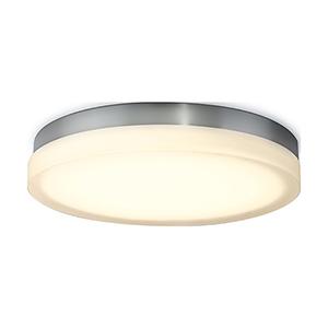 Slice Chrome 15-Inch LED Flush Mount with 2700K Warm White