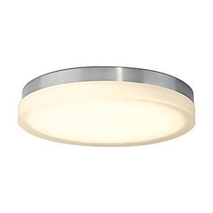 Slice Brushed Nickel 15-Inch LED Flush Mount with 3000K Soft White