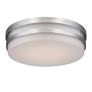 Vie Chrome LED Flush Mount with Blown Triplex Glass