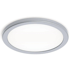 Geos Titanium 10-Inch LED Flush Mount with 3000K Soft White