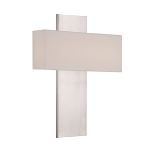 Chicago 17-Inch Brushed Nickel LED Wall Sconce