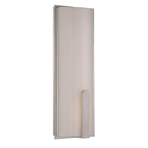 Stella Brushed Nickel 17-Inch LED Wall Sconce with Screen White Glass