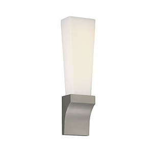 Empire Satin Nickel LED Wall Sconce with Blown Etched Opal Glass