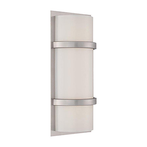 Vie Brushed Nickel 14-Inch LED Wall Sconce