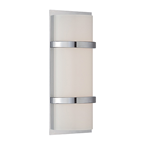 Vie Chrome 14-Inch LED Wall Sconce