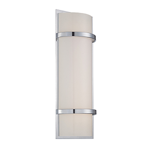 Vie Chrome 20-Inch LED Wall Sconce