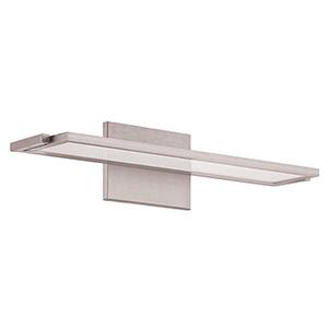 Line Brushed Aluminum 18-Inch LED Bath Light with 2700K Warm White