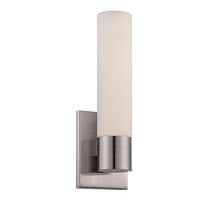 Elementum Brushed Nickel LED Wall Sconce with Blown Triplex Glass