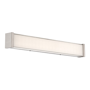 Svelte Chrome 22-Inch LED Bath Light with Thick Mitered Glass