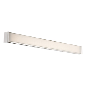 Svelte Brushed Nickel 34-Inch LED Bath Light with Thick Mitered Glass
