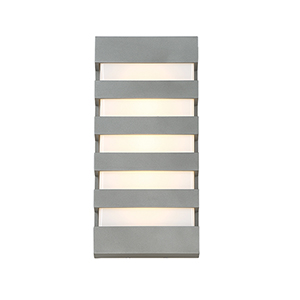 Folsom Graphite 14-Inch LED Outdoor Wall Light with Opal Etched Glass